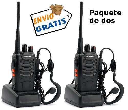 Baofeng 888 Paquete 4 (Cuatro) Radios Uhf