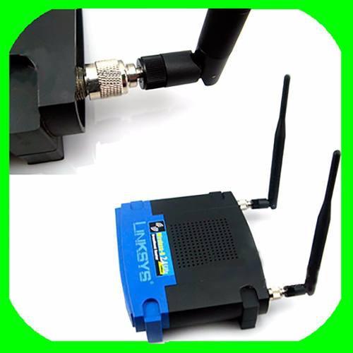 Conector Adaptador Rp Sma, Rp Tnc Antena Linksys Router Wifi
