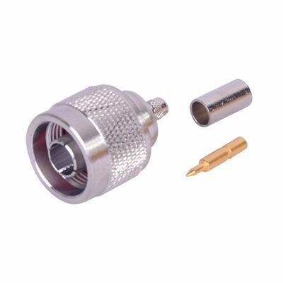 Conector N Macho P/rg58,rg142/u Rfn1005-amp Rf Industries