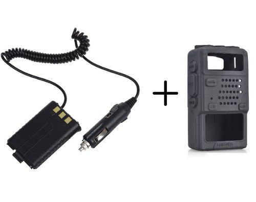 Eliminador De Bateria Radio Baofeng + Funda De Silicon Uv-5r