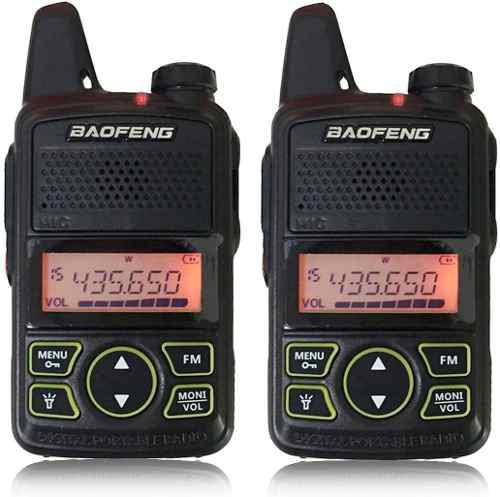 Kit 2 Radio Baofeng Bf-t1 Mini Walkie Talkie Dual Recargable