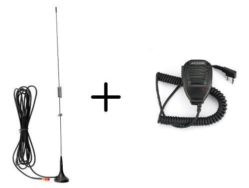 Kit Microfono Baofeng + Antena Para Automovil
