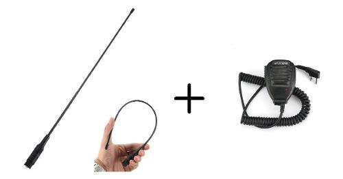 Kit Microfono Baofeng Y Antena C/ganancia Nagoya 100% Nuevos