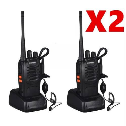 Lote 2 Radio Portatil Baofeng Bf-888s Walkie Talkie 2 Vias