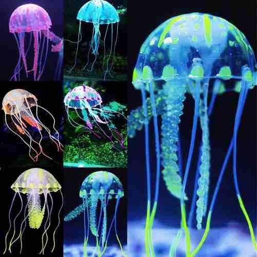 Medusas Artificiales Para Acuario 6 Pz Incluye Envio Promo!!