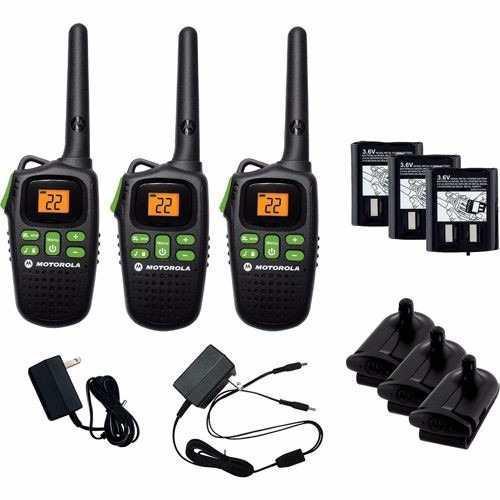Motorola Md200tpr Kit 3 Radios 20 Millas Nuevo De Linea!