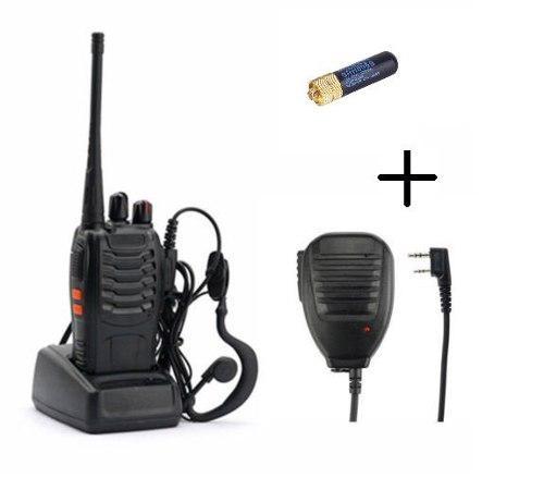 Radio Baofeng Bf-888s + Micro De Solapa + Mini Antena