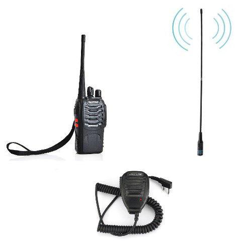 Radio Baofeng Bf-888s Uhf + Antena + Micro De Solapa Nuevos