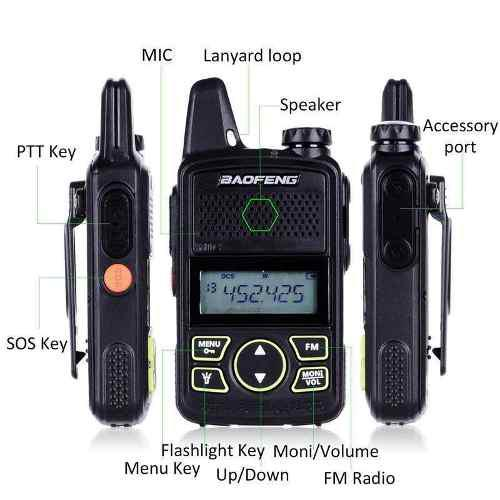 Radio Baofeng Bf-t1 Mini Walkie Talkie Dual Band Intercom