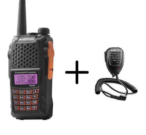 Radio Baofeng Uv-6r Vhf/uhf Doble Banda + Micro De Solapa