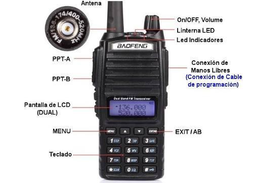 Radio Doble Banda Uv82 Promo 2 Pza