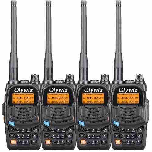 Radio Transmisor Olywiz Uv6s Doble Vía Largo Alcance 4 Uds.