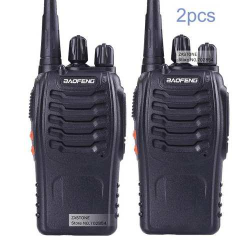 Set 2 Radios Bf/888s Walkie Talkie Dos Vias Portatil