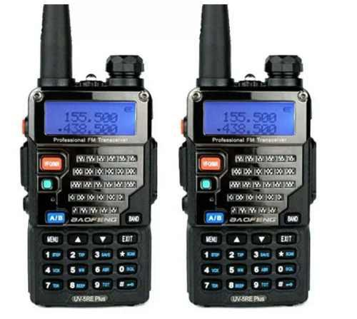 Set De 2 Radios Baofeng Uv 5 Re Uhf Vhf Fm