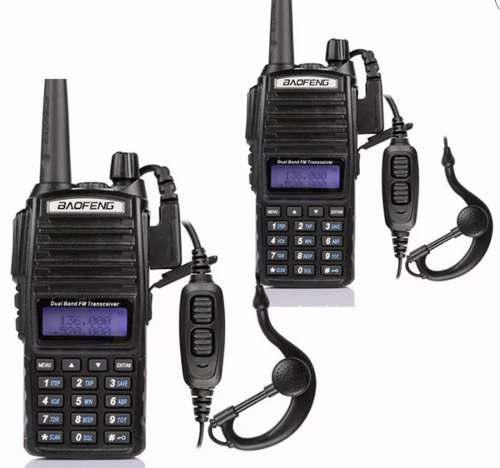 Set De 2 Radios Uv82 Doble Banda Uhf/vhf En Stock