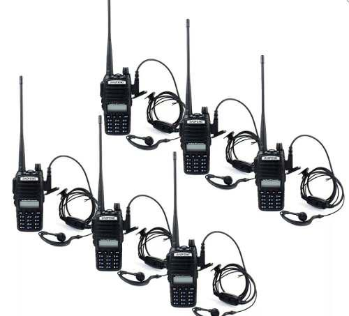 Set De 6 Radios Uv82 Doble Banda Uhf/vhf En Stock Oferta