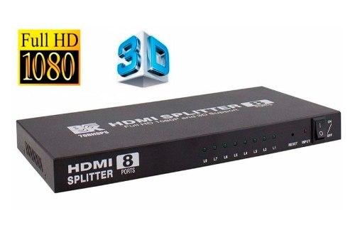 Splitter Hdmi 1x8 3d Full Hd Amplificador p Pc Lap