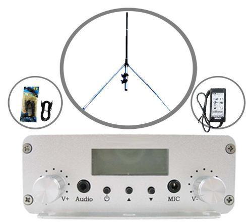 Transmisor Radio Fm 20 Watts 16 Mts Cable Entrega Inmediata