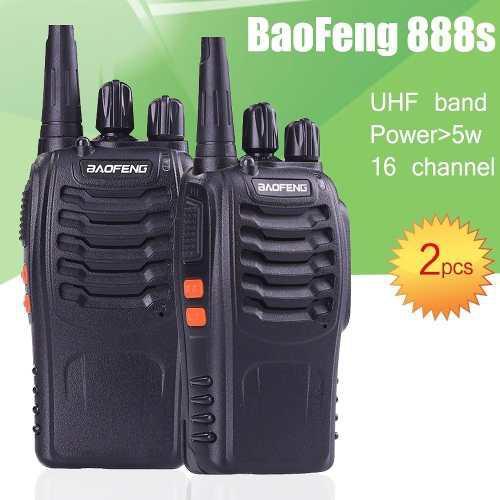Un Par Baofeng Bf 888s Walkie Talkie Radios Uhf 2 Vias