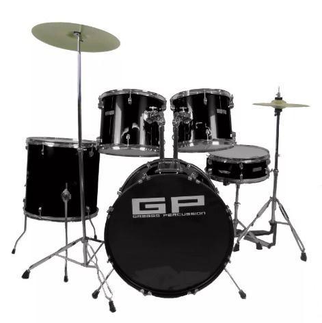 Bateria Greggs Percussion 5 Piezas, Platillos Y Banco