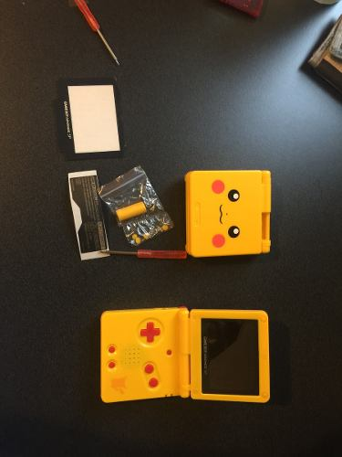 Carcasa De Pikachu Pokemon Sp Gameboy Advance Sp