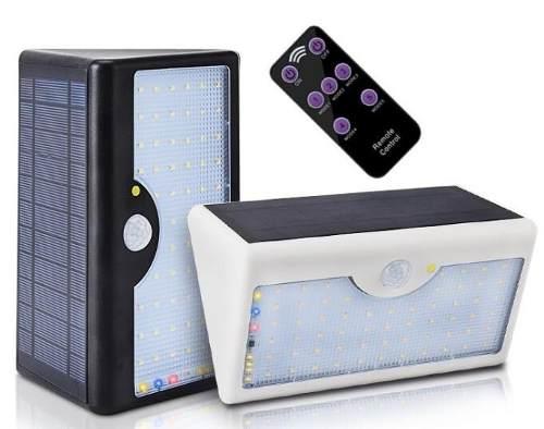 Lámpara Solar Led Sensor Movimiento Exterior Control Remoto