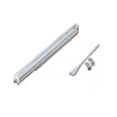 Paq 12 Tubo Lampara Led 60 Cms 9w T8 Canaleta Plástico