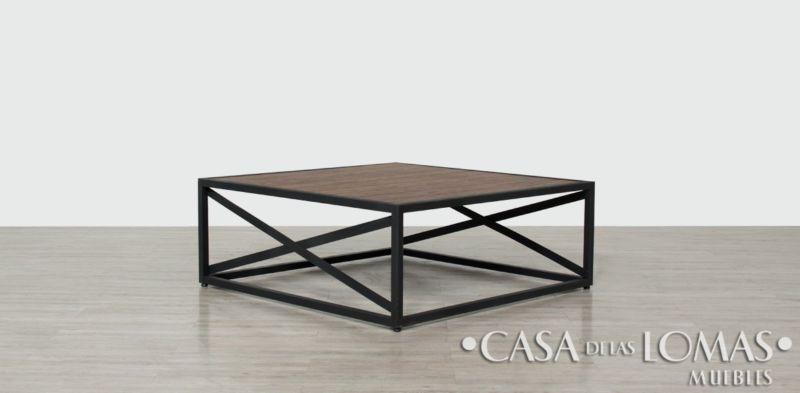 Juego de 3 mesas para sala vintage, 2 laterales y 1 de