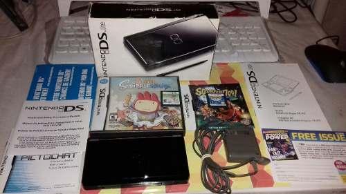 Nintendo Ds Lite Con 2 Juegos Y Bien Cuidado,funcionando.