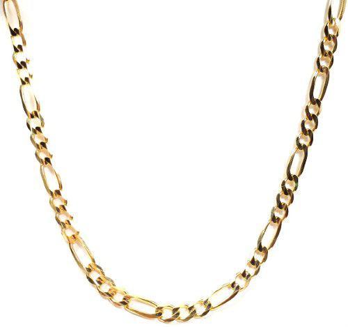 Cadena Figaro 3 X 1 Oro Macizo 10k De 60cm. 30grs Solid Gold