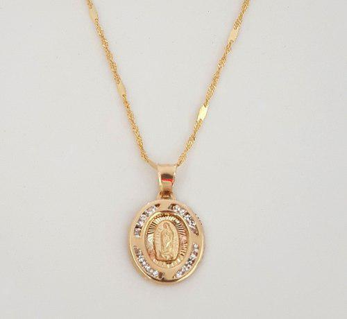 Cadena Medalla Virgen Bautizo Y Primera C. Oro Solido 10k