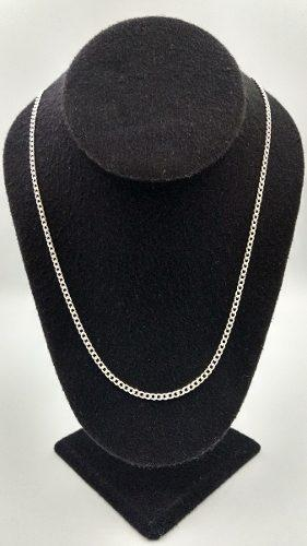 Cadena Plata Brillante Fina 925 Mujer Hombre Unisex 60cm 2mm