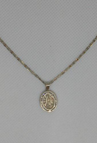Cadena Y Medalla En Oro 10 Kilates Solido.