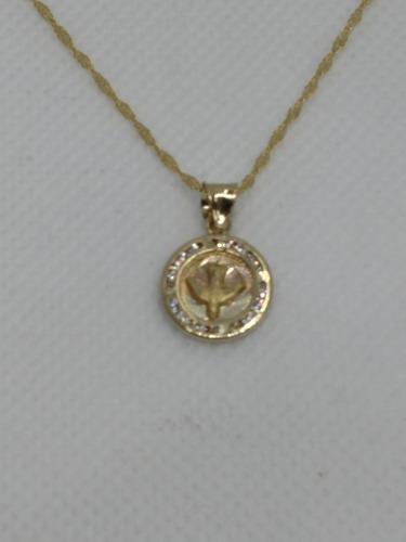 Cadena Y Medalla Espíritu Santo Bautizo Oro 10 Kilates