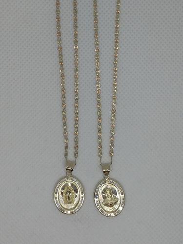 Cadenas Y Medallas Para Boda En Oro 10 Kilates.