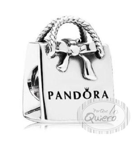 Charm 100% Plata Bolsita Bolsa Compras Compatible Pandora