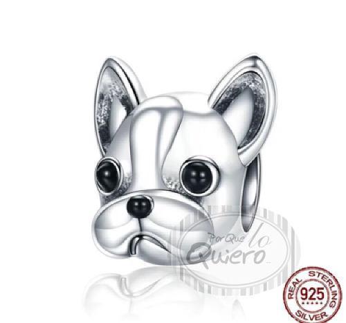Charm Perro Chihuahua Compatible Pandora 100% Plata Esterlin