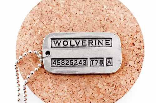 Colgante Collar Con Placa De Wolverine X Men