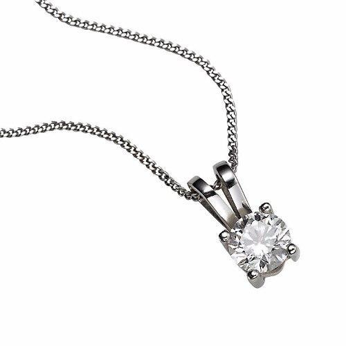 Colgante De Diamante Natural De.20 Ct. Y Cadena De Oro 14k.