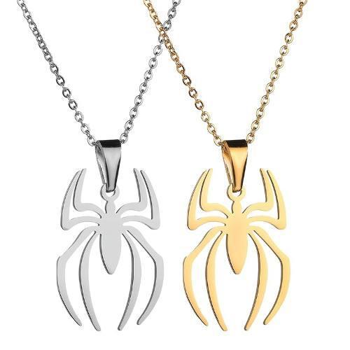 Collar Avengers Spiderman Titanio + Cadena + Precio Mayoreo