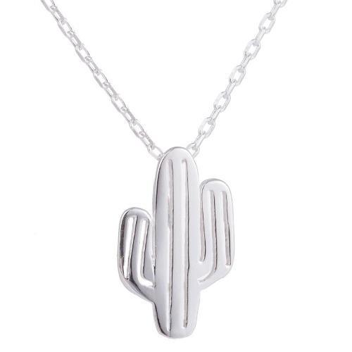 Collar Cactus Plata.925
