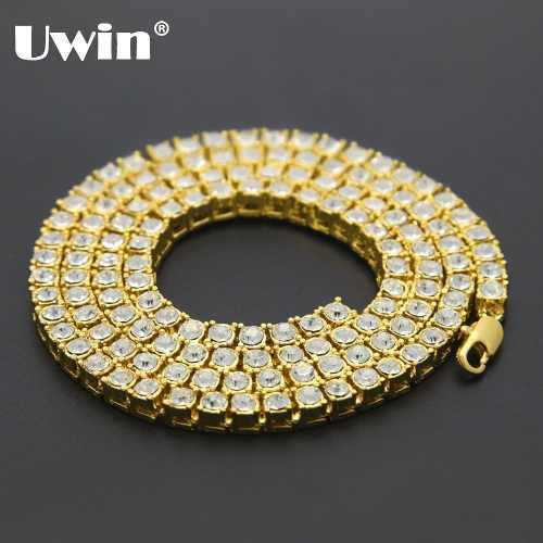 Collar Cadena Color Oro Unisex Joyería Moda Hip Hop