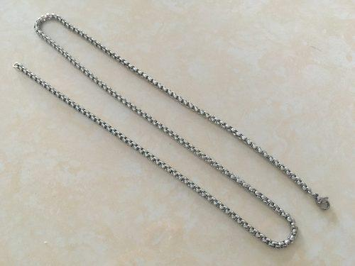 Collar Cadena Eslabones Acero Hombre Mujer Unisex 2.5mmx60cm