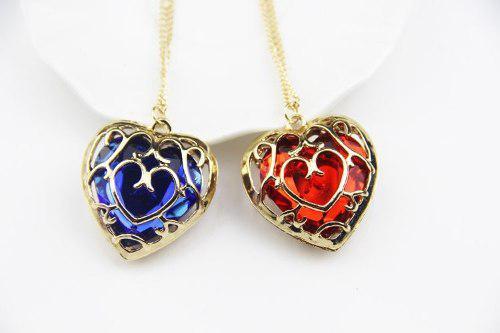 Collar Corazon De Zelda Rojo Azul Envío Gratis Dhl
