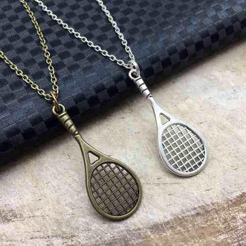 Collar De Raqueta De Tenis Dije Raqueta Dije Tenis