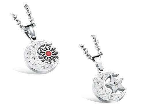 Collar Luna De Titanio + Swarovski + Envío Gratis