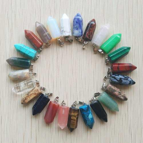 Collares Cuarzo Joyeria Piedra Natural Bisuteria Pequeño