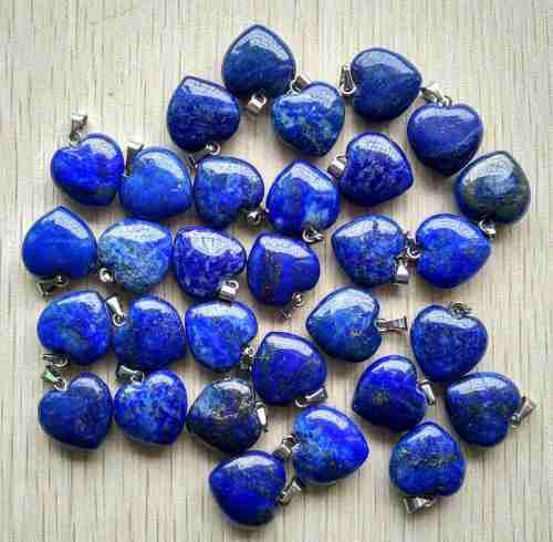 Corazón Lapislázuli Piedra Natural Dije Tamaño 16mmx16mm