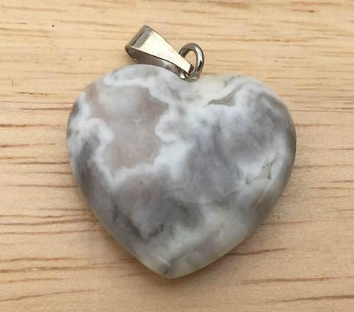 Cuarzo Ágata Loca Piedra Natural Corazón Dije Unisex 20mm