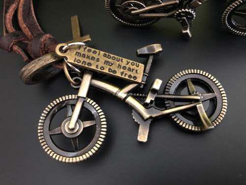 Dije Collar Tipo Oro Viejo Bicicleta Montaña Mtb Ciclismo